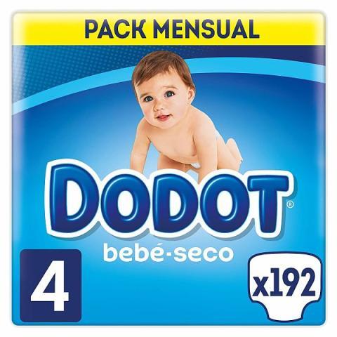 Un paquete de 192 pañales Dodot Bebé-Seco