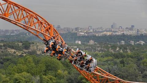 El Parque de Atracciones de Madrid, junto a la Casa de Campo