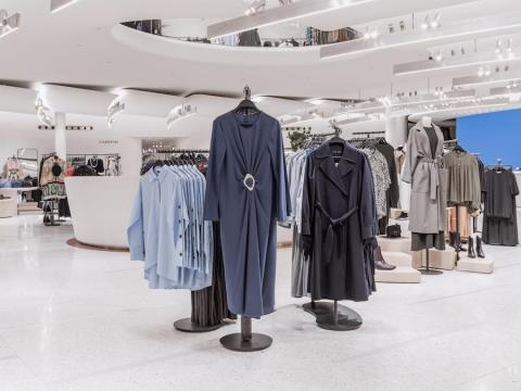 Zara has grown from having one store in La Coruña to 2,238 locations in 96 countries around the world. This photograph shows the womenswear display at a Zara store in Milan.