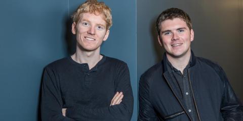 Patrick Collison (left) and John Collison (right), cofounders of Stripe