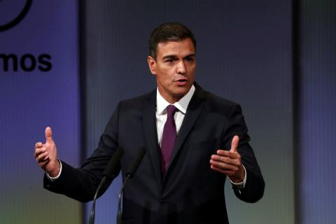 Pedro Sánchez, en el acto por los 100 días de Gobierno
