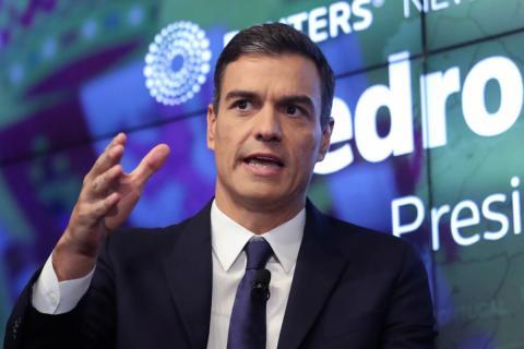 Pedro Sánchez, en un evento en Nueva York
