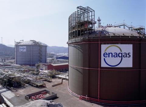 Una planta de Enagas en Cartagena.