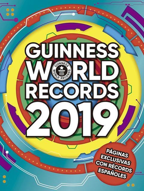 Portada de la edición de 2019 en castellano del Libro Guinness de los Récords