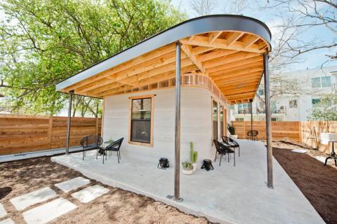 La primera casa impresa en 3D permitida en Estados Unidos debutó en Texas.