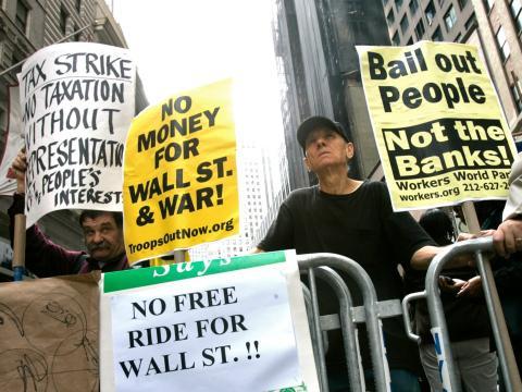 Protestas por la crisis EEUU