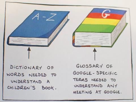Cornet satiriza incluso el vocabulario propio de los empleados de Google