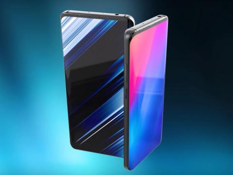A concept of the Galaxy S10's design.