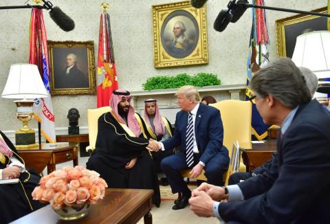 El Príncipe Mohammed con Donald Trump en el Despacho Oval [RE]