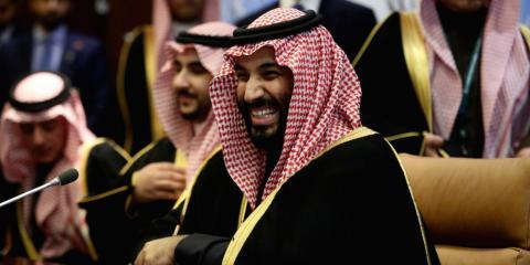 El príncipe heredero saudí Mohammed bin Salman Al Saud en la sede de la ONU de Nueva York el pasado marzo [RE]
