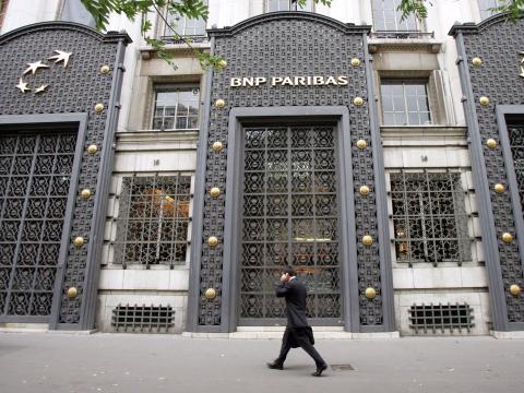 Sede de BNP Paribas en París, jueves, 9 de agosto de 2007.