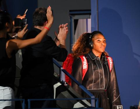 Serena, antes de un partido en el US Open