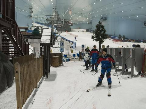 """""""Shopping mecca of the Middle East and haven for foreigners and expats. Where else can you ski inside a mall in 90 degree heat? But, guess what? The whole place is fake! Get a real life, go to a real mountain, and ski in real"""