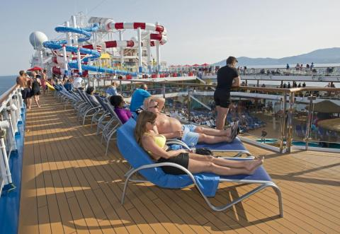 The SkyDeck on Deck 12 is a great place to catch some rays.