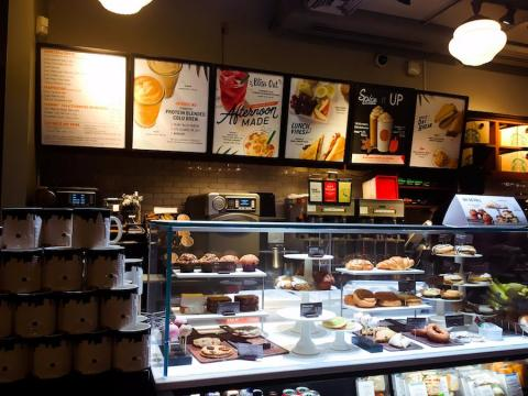 Starbucks also offers these coffees but has a larger selection of more experimental flavors including its seasonal Pumpkin Spice Latte, Vanilla Bean Latte, and signature Frappucinos, which do not all contain coffee.