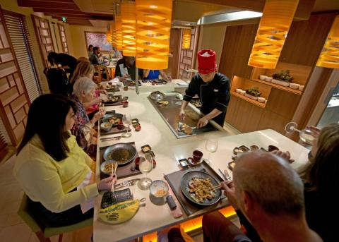 There is also Bonsai Teppanyaki, a Japanese restaurant with meats, fish, tofu, and veggies prepared in-front of guests at their table.