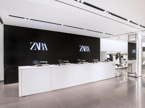 The cash register in this pilot store is identical to what you might find in one of Zara's standard locations.