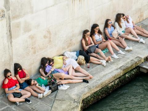 There's also very little green space in Venice for tired tourists to escape from the heat and humidity in the summertime, when people tend to visit.