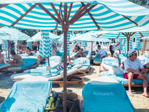 For those looking for a day party, Mykonos is the king of the chummy beach club party. So long as you can pay. Nammos is one of the hottest spots, with loungers practically stacked on top of each other and champagne-doused lunches