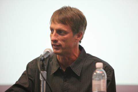 Tony Hawk, durante una conferencia