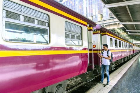 tren en estación