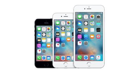 Tres modelos de iPhone