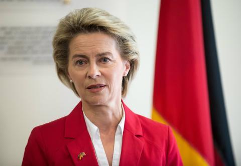 Ursula von der Leyen, ministra de Defensa alemana
