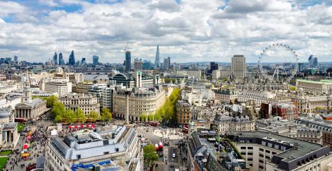 Vista aérea del centro de Londres