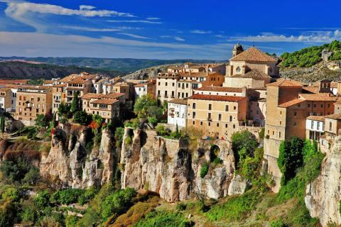 Vista del casco antiguo de la ciudad de Cuenca (Castilla-La Mancha)