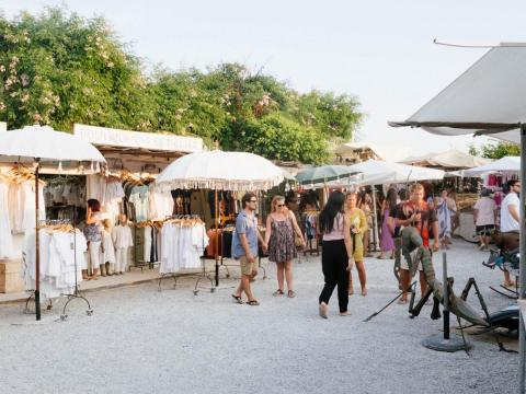 While Ibiza has its share of haute couture shops (no Louis Vuitton, though), what I really appreciated about the island was its tradition of hippy markets, like Las Dalias. On Saturdays, locals set up stalls and sell their
