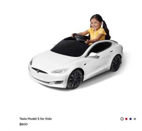 Your kids can have a Tesla of their own, before they're old enough to drive.