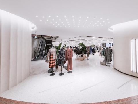 Zara focuses on newness. Women's wear at a Zara store in Milan.