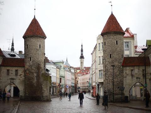 Las puertas de la ciudad de Tallin, en Estonia.