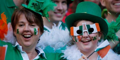 Ireland fans at the Rugby World Cup on September 27, 2015.