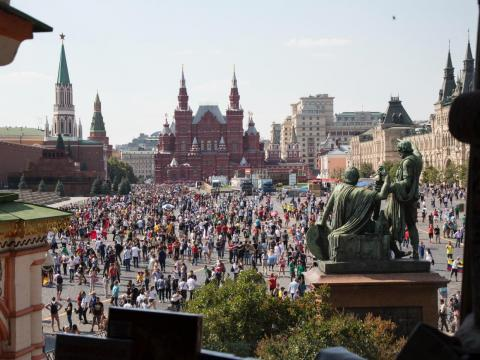 The 2018 FIFA World Cup drew tremendous crowds to Moscow. An estimated 2.5 million people went to the FIFA Fan Fest.