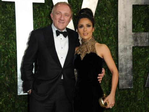 Pinault y su mujer, la actriz Salma Hayek.