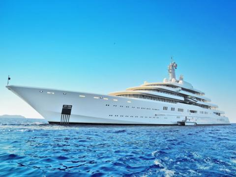 5. Luxurious superyachts
