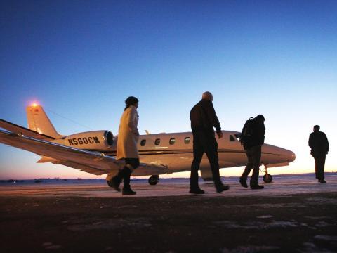 6. Private planes