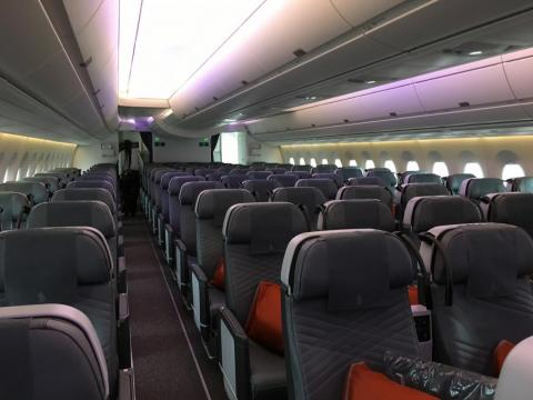 ...Premium economy. That's about 90 seats fewer than Singapore's regular long-haul A350-900s.