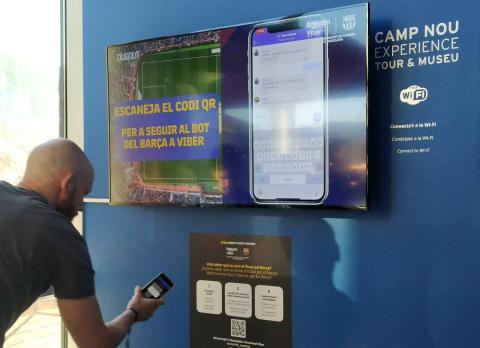 Activación de la experiencia interactiva en el museo del F.C. Barcelona.