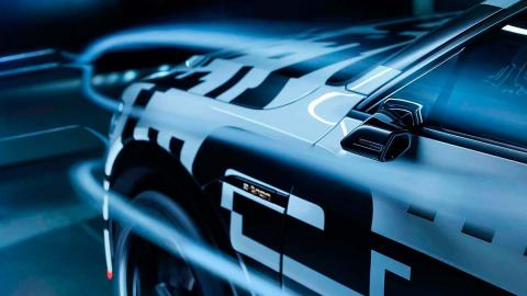 Audi e-tron aerodinamica retrovisor