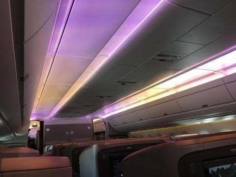 """After lunch, I rested for a couple of hours and finished """"Grand Prix."""" I tried to do some work, but the plane's WiFi system did not cooperate, mainly because of a large number of bandwidth-hogging journalists and vloggers on board"""