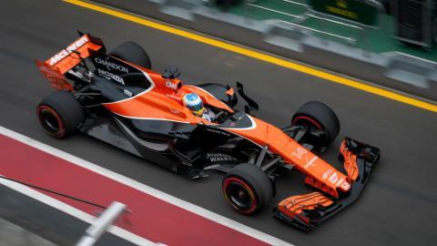 Alonso, en un GP en 2017