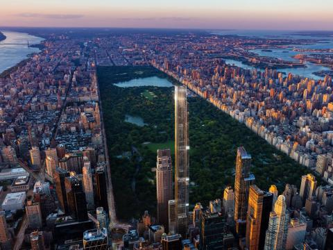 Though 432 Park Ave. holds the title of tallest residential building in the city now, it will soon be outstripped by Central Park Tower, which will be 1,550 feet tall when completed.