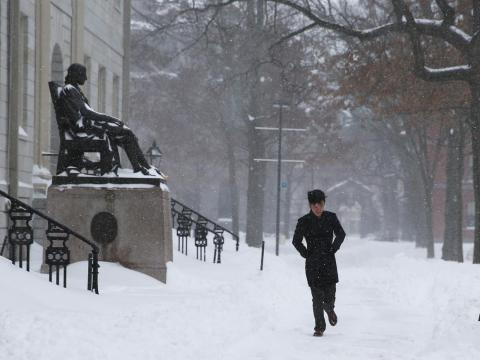 And because Harvard is situated in the northeast, temperatures can hit below 30 degrees Fahrenheit during the coldest months of the year.