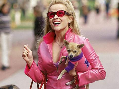 "Reese Witherspoon como Elle Woods en ""Una rubia muy legal""."