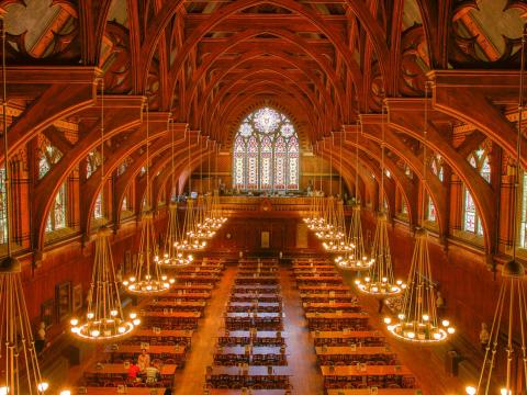 And then there's the majestic Annenberg, the dining hall for first-years that looks like a Harry Potter movie set.