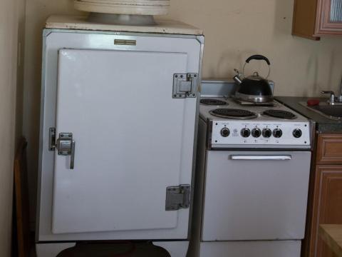 Y los antiguos electrodomésticos de la cocina te recuerdan que estás en una casa del siglo XIX