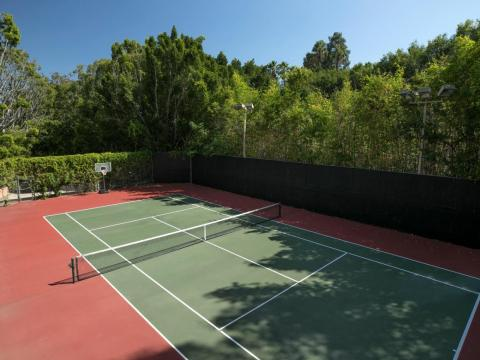 And what would a multimillion-dollar estate be without its own private tennis court?