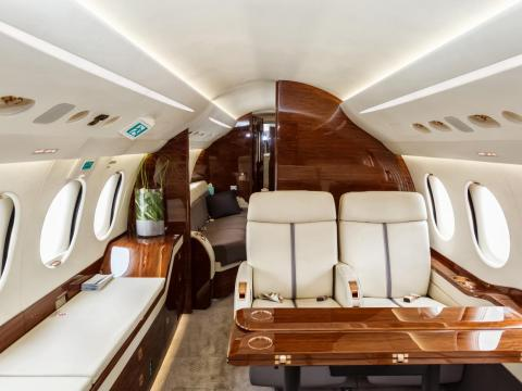 Another obvious advantage of flying on a private plane is the privacy. Whether you own your own jet or you're chartering a flight, you won't be surrounded by scores of other passengers as you would be on a typical commercial